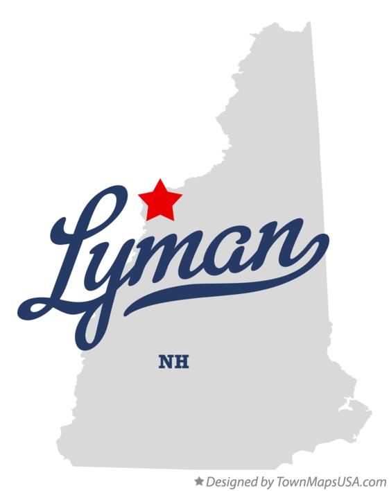 Map of Lyman New Hampshire NH