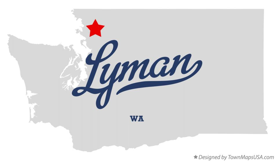 Map of Lyman Washington WA