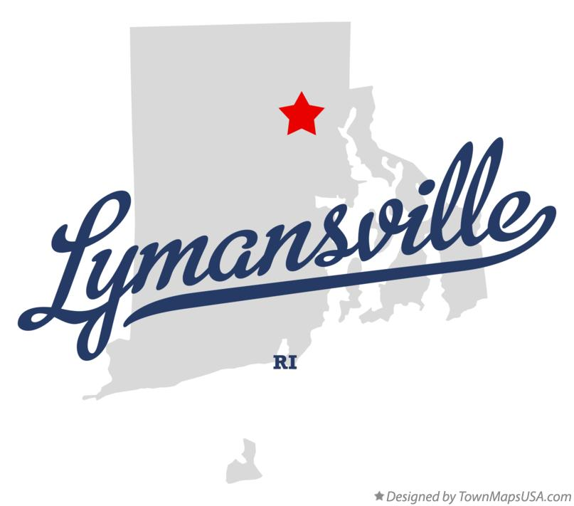 Map of Lymansville Rhode Island RI