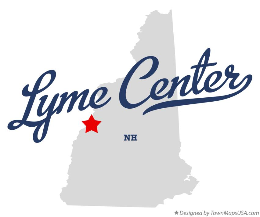 Map of Lyme Center New Hampshire NH