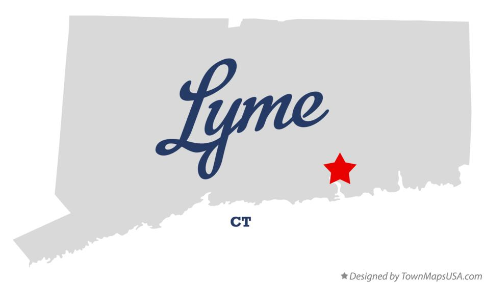 Map of Lyme Connecticut CT