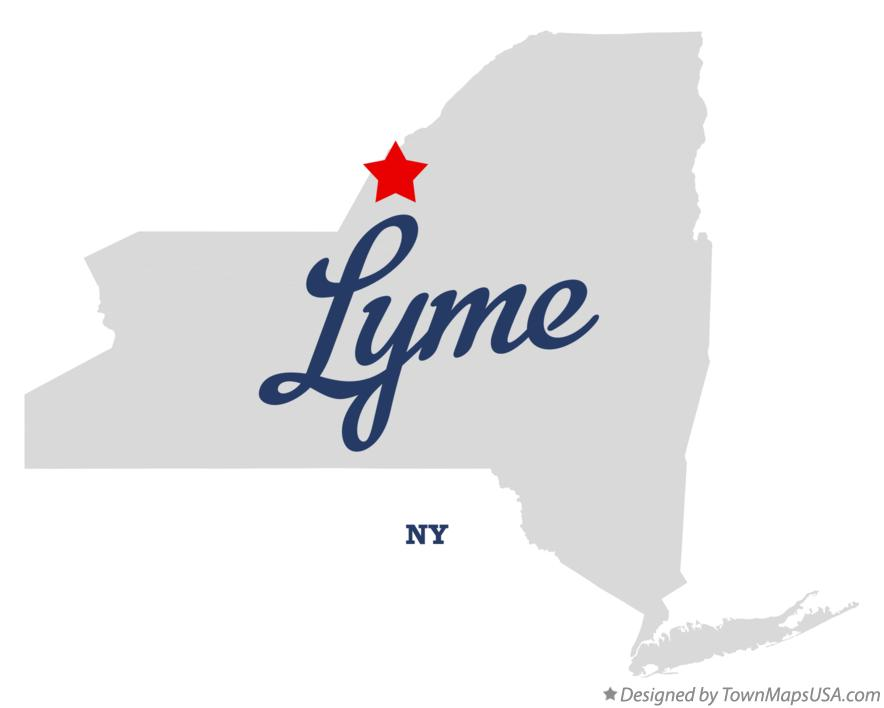 Map of Lyme New York NY