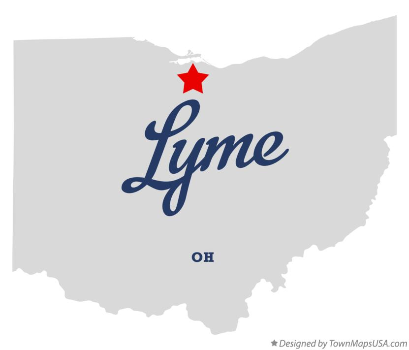 Map of Lyme Ohio OH