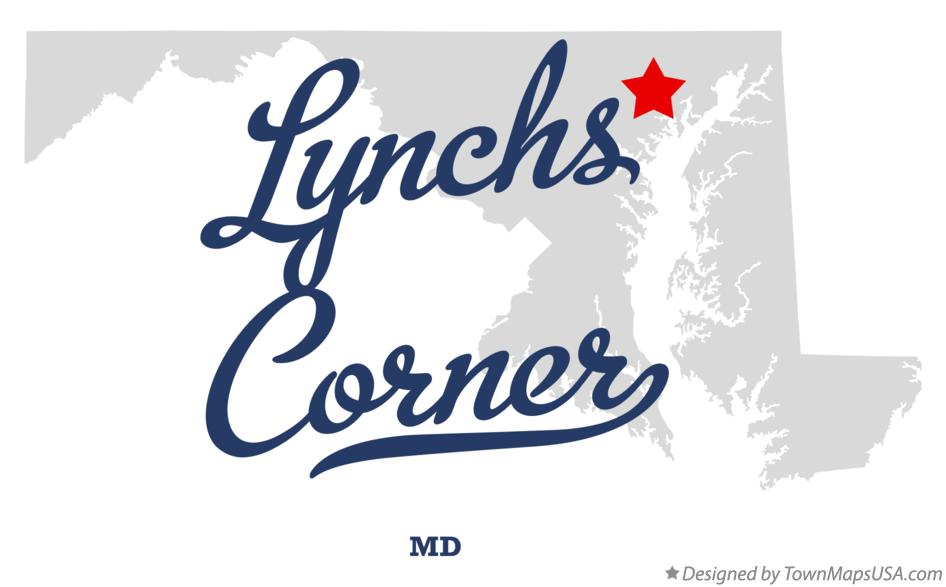 Map of Lynchs Corner Maryland MD