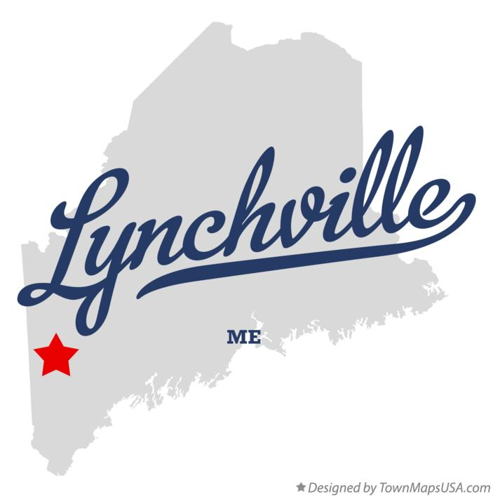 Map of Lynchville Maine ME