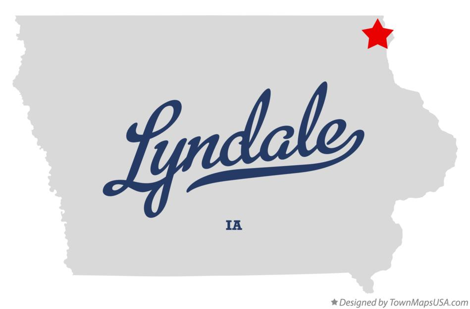 Map of Lyndale Iowa IA