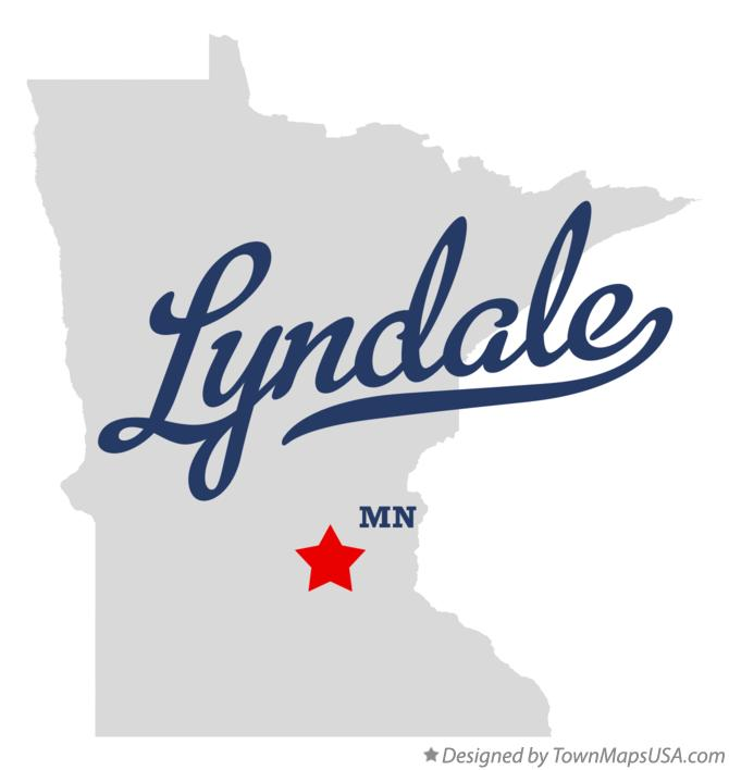 Map of Lyndale Minnesota MN