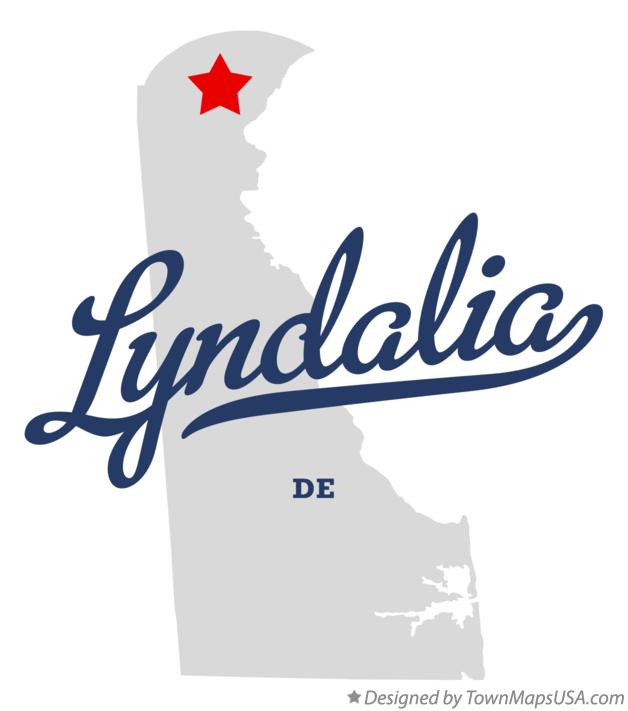 Map of Lyndalia Delaware DE