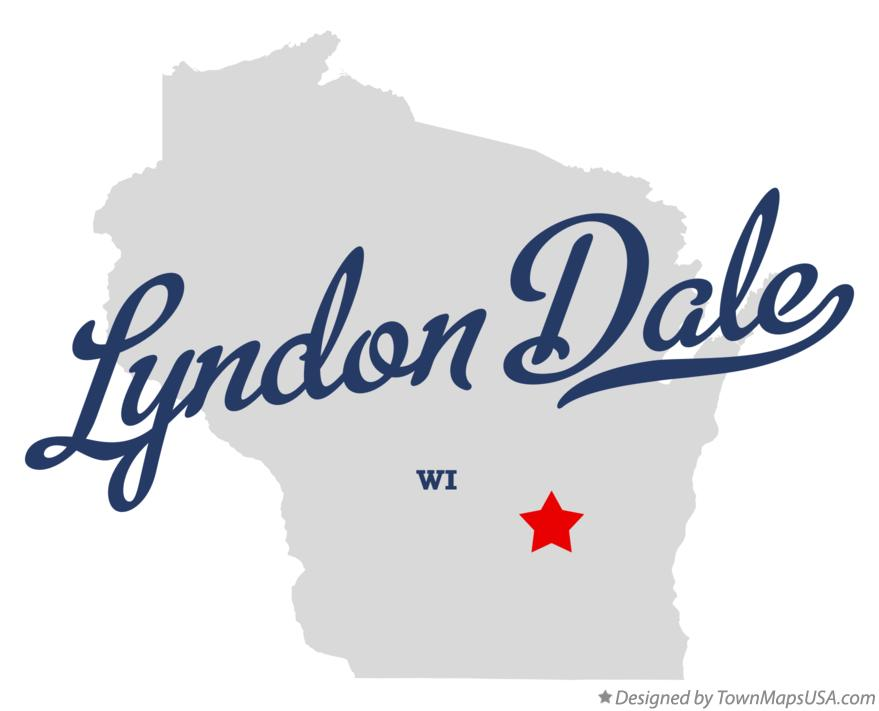 Map of Lyndon Dale Wisconsin WI