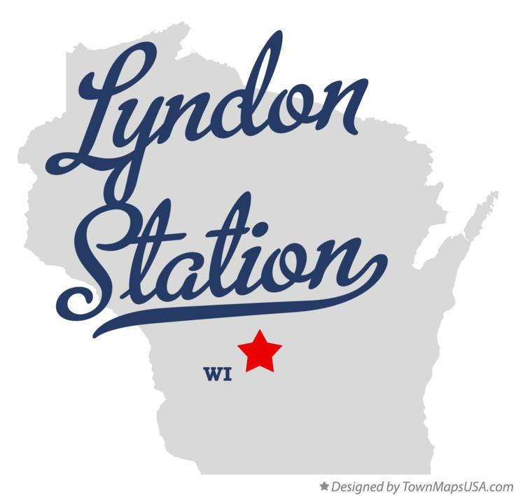 Map of Lyndon Station Wisconsin WI