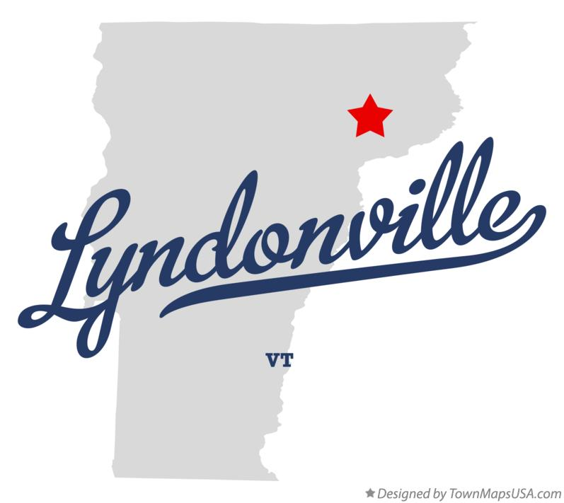 Map of Lyndonville Vermont VT