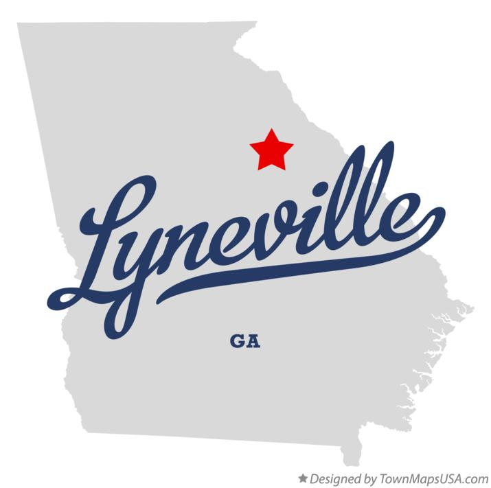 Map of Lyneville Georgia GA