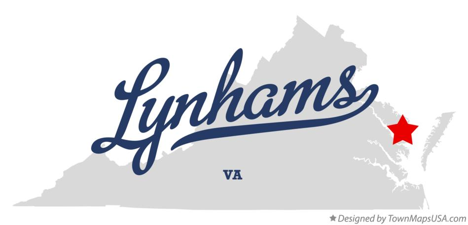 Map of Lynhams Virginia VA