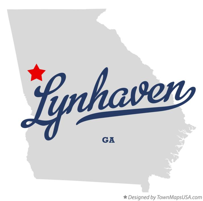 Map of Lynhaven Georgia GA