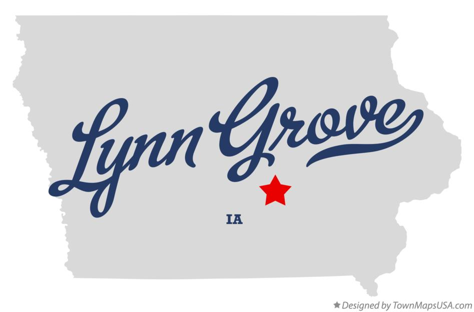 Map of Lynn Grove Iowa IA