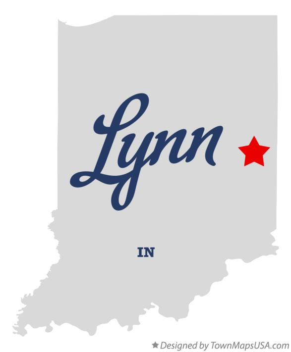 Map of Lynn Indiana IN