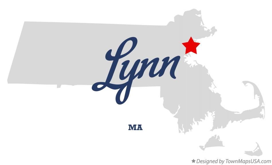 Map of Lynn Massachusetts MA