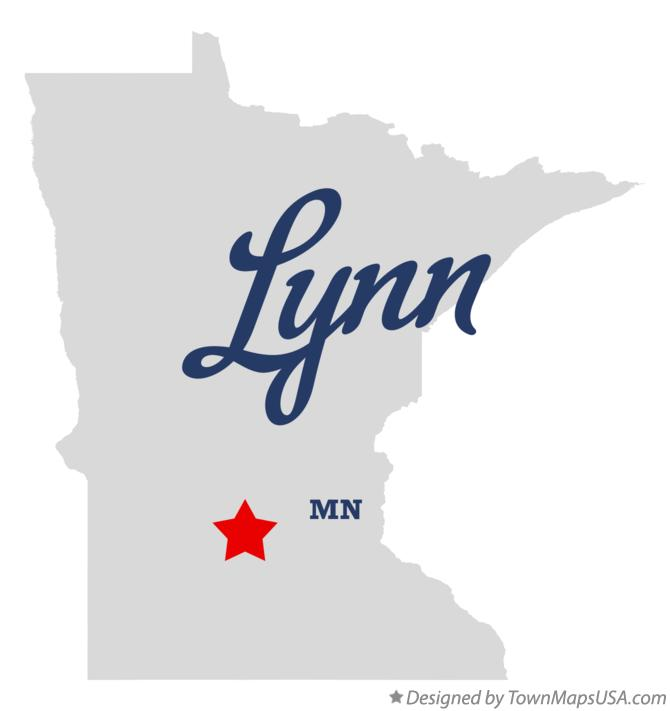 Map of Lynn Minnesota MN