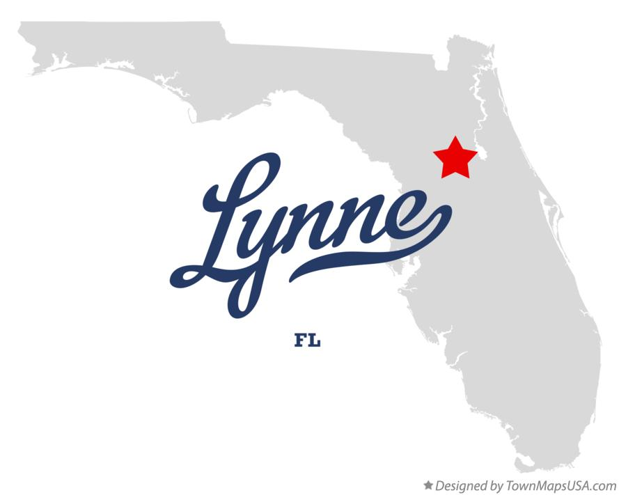 Map of Lynne Florida FL