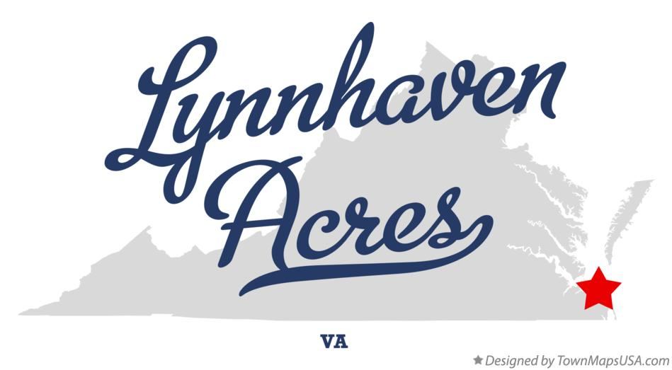 Map of Lynnhaven Acres Virginia VA