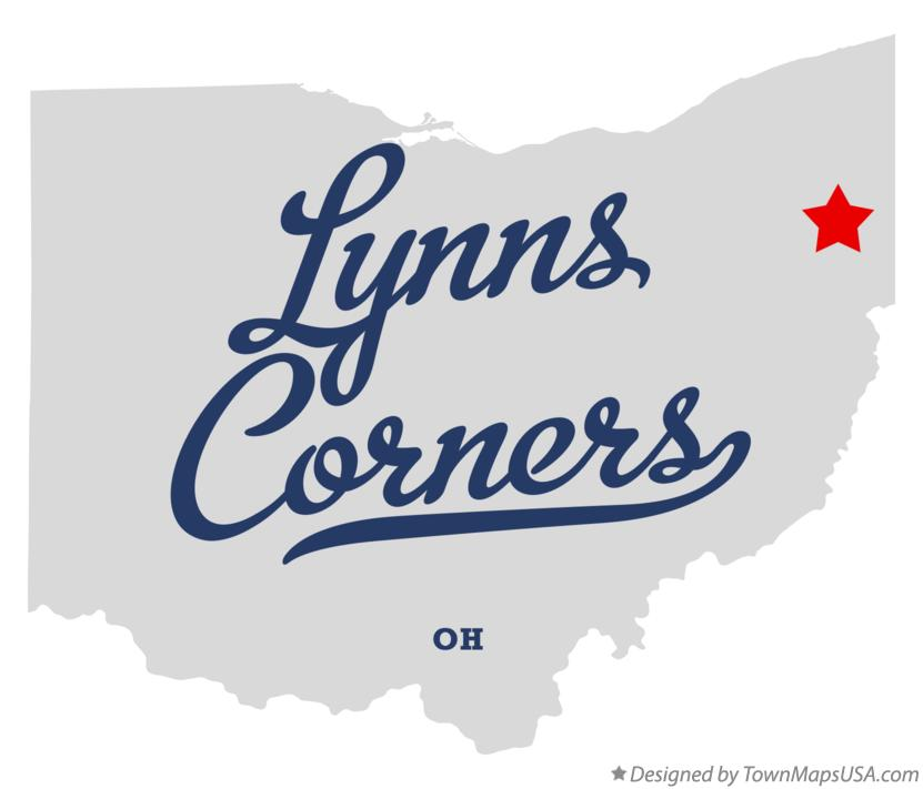 Map of Lynns Corners Ohio OH