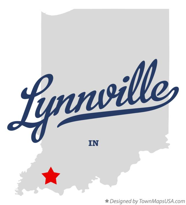 Map of Lynnville Indiana IN