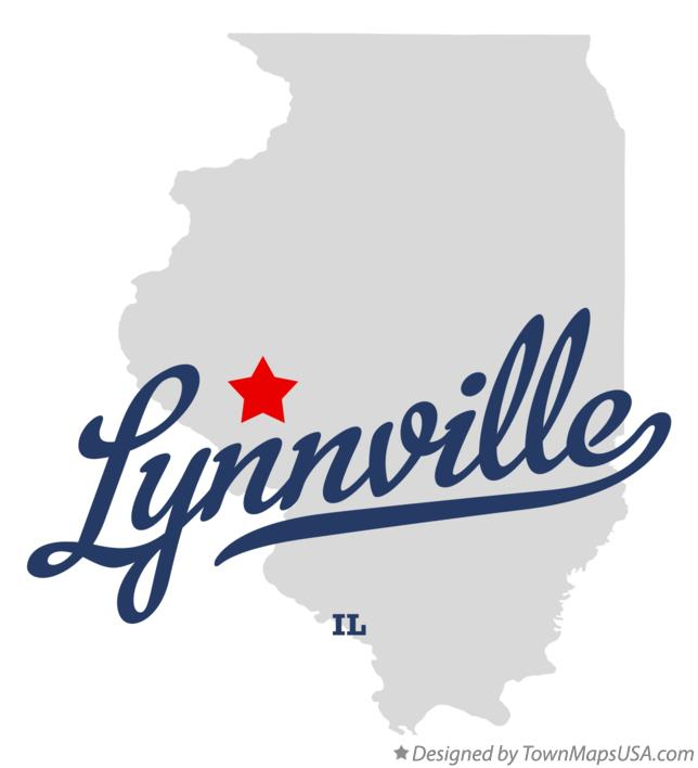 Map of Lynnville Illinois IL
