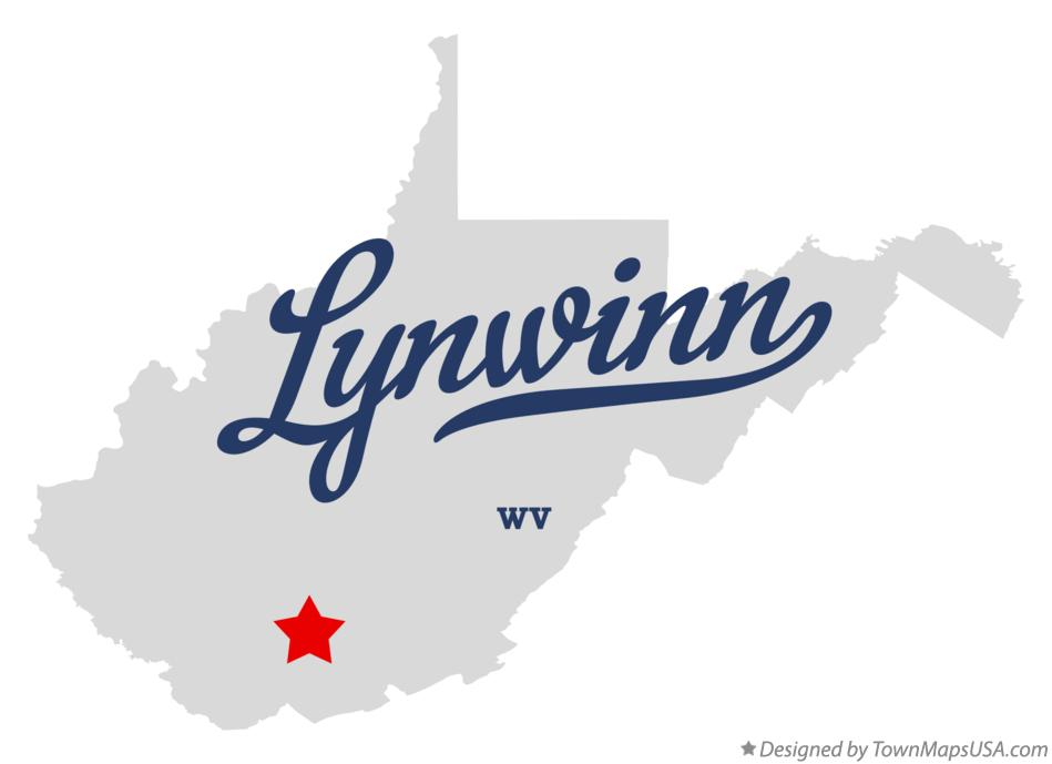 Map of Lynwinn West Virginia WV