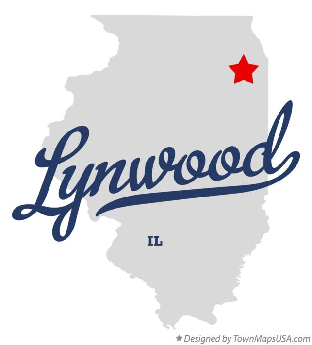 Map of Lynwood Illinois IL