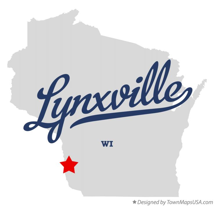 Map of Lynxville Wisconsin WI