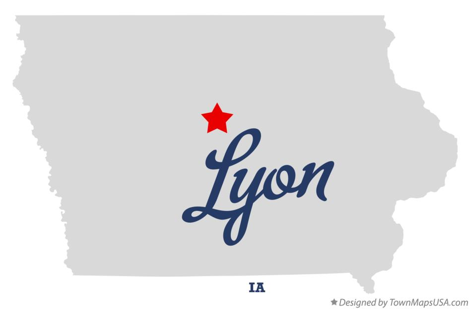 Map of Lyon Iowa IA