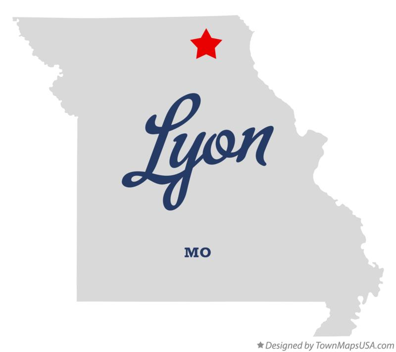 Map of Lyon Missouri MO