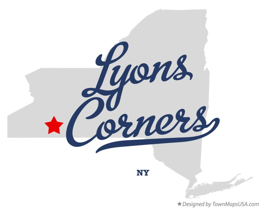 Map of Lyons Corners New York NY