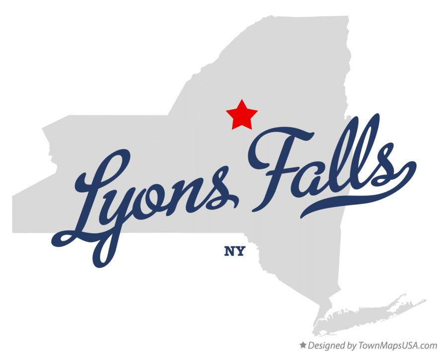 Map of Lyons Falls New York NY
