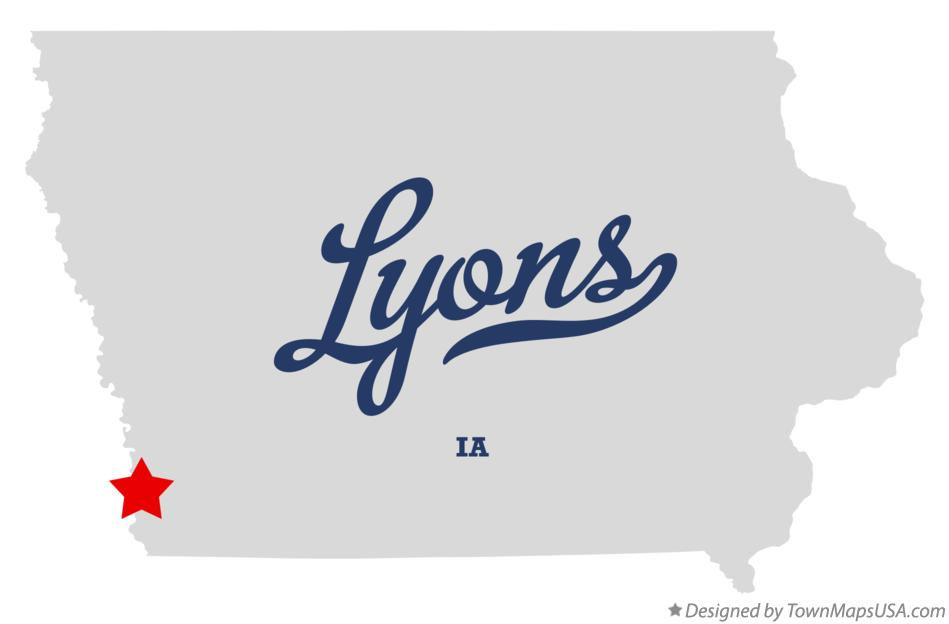Map of Lyons Iowa IA