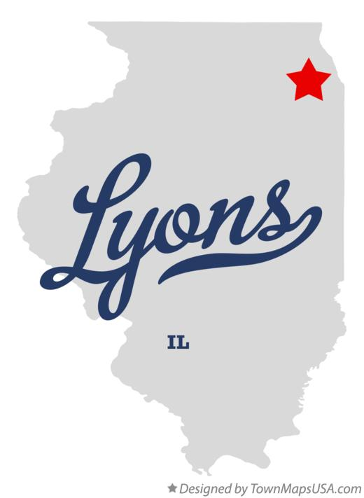 Map of Lyons Illinois IL