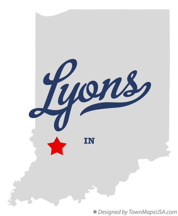 Map of Lyons Indiana IN