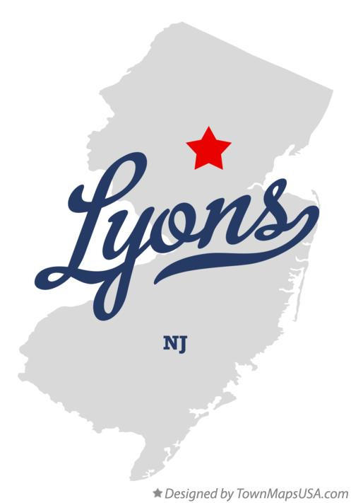 Map of Lyons New Jersey NJ