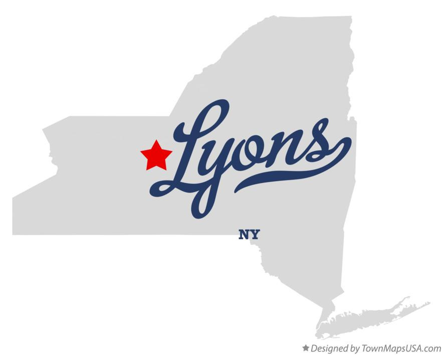 Map of Lyons New York NY