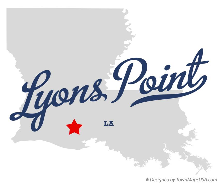 Map of Lyons Point Louisiana LA
