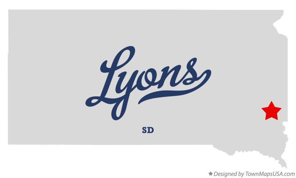 Map of Lyons South Dakota SD