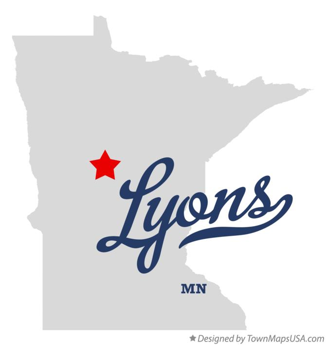 Map of Lyons Minnesota MN