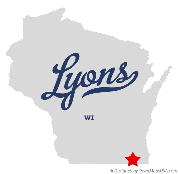 Map of Lyons Wisconsin WI