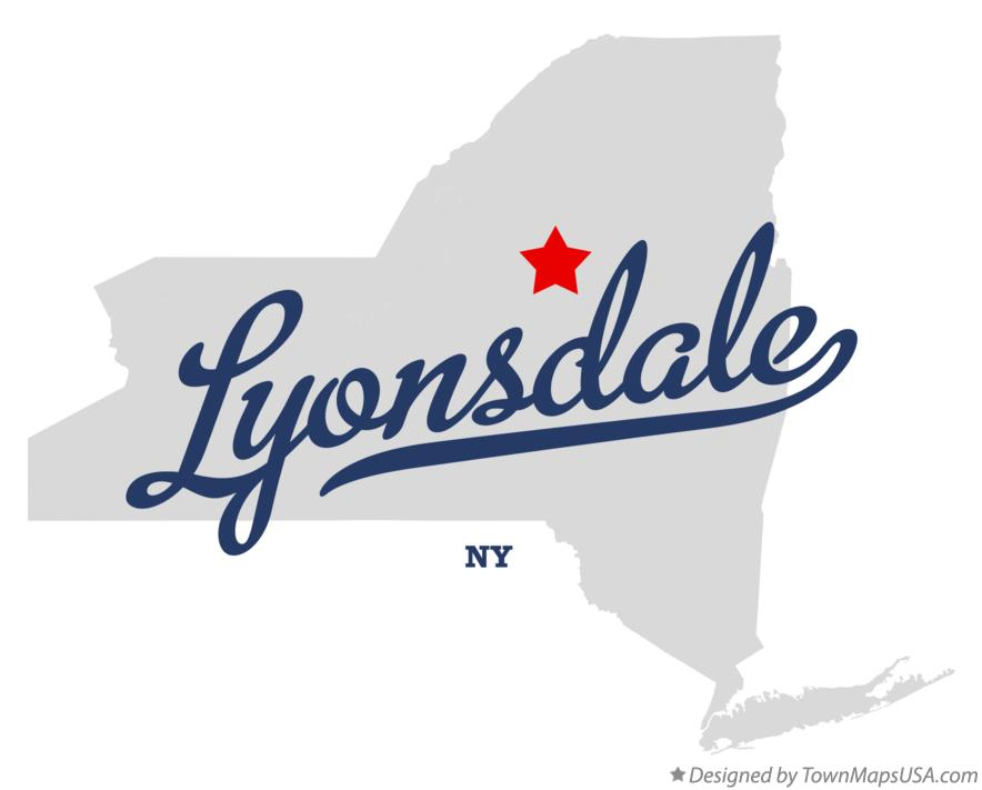 Map of Lyonsdale New York NY