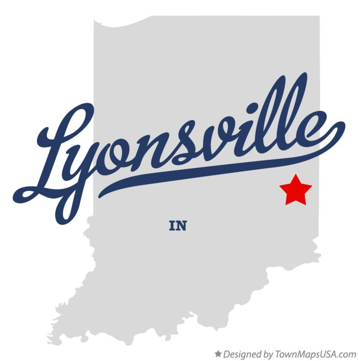 Map of Lyonsville Indiana IN