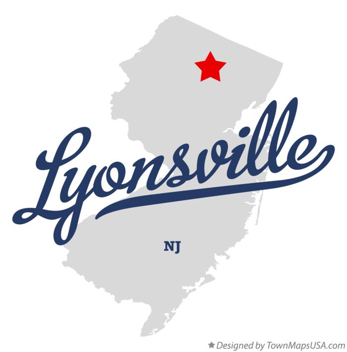 Map of Lyonsville New Jersey NJ