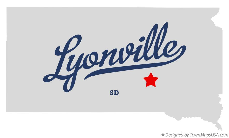 Map of Lyonville South Dakota SD