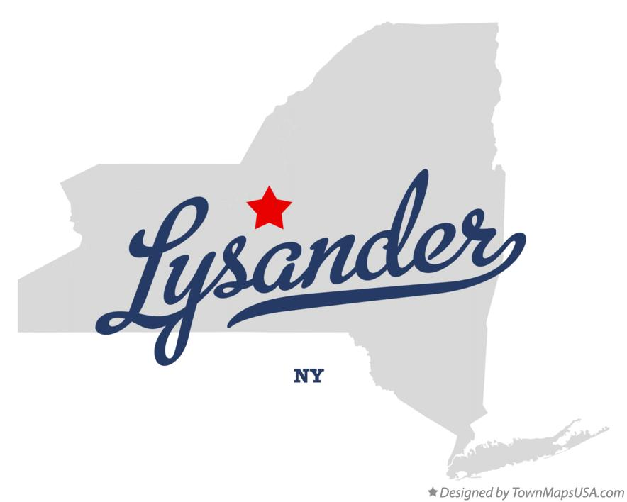 Map of Lysander New York NY