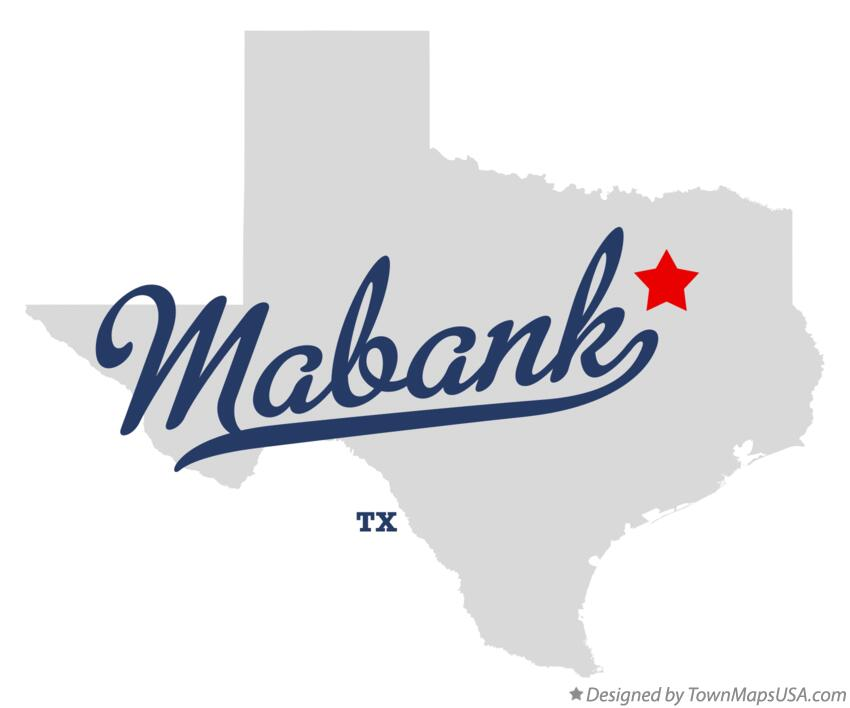 Map of Mabank Texas TX