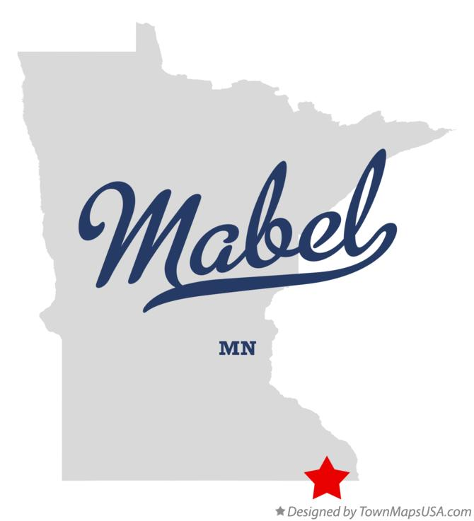 Map of Mabel Minnesota MN